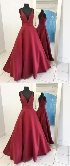 prom dresses,2017 prom dress,2017 long satin prom dresses,red prom dresses,deep v neck prom dresses,prom dresses for teens,charming prom dresses,2017 new prom dresses,fashion dresses,fashion,