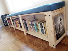 bookshelf and seating