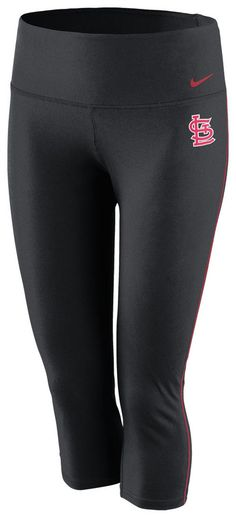 St. Louis (STL) Cardinals Women's Black Nike Dri-FIT Capri Pants http://www.rallyhouse.com/shop/st-louis-cardinals-nike-st-louis-cardinals-nike-womens-black-drifit-capri-12517236?utm_source=pinterest&utm_medium=social&utm_campaign=Pinterest-STLCardinals $45.00