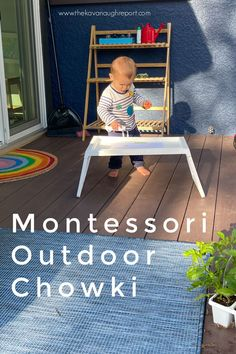 Create a Montessori outdoor space with a chowki. This perfect, easy to use IKEA is the perfect Montessori tip for an outdoor kids space. Play Spaces, Learning Spaces, Kid Spaces, Infant Activities, Preschool Activities, Family Child Care, Working With Children, Outdoor Art, Kid Friendly Meals
