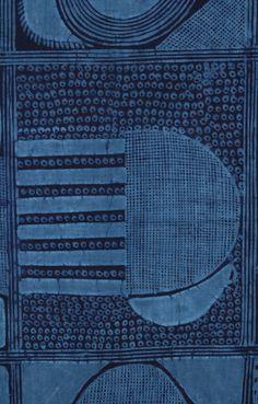 prior pin: Africa | Adire Eleko from the Yoruba people of Nigeria. | Circa 1960 | Cotton