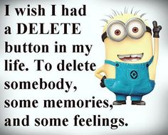 I wish I had a delete button in my life.