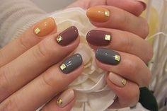 "Pretty Autumn Nails via @Brit Morin | ""♡秋流行カラーネイル♡の画像 | 静岡市 ネイルサロン acca style"""