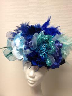 Handmade blue hat for carnaval / vastelaovend / karnaval bij BTstyling HOEDcouture&meer! http://www.btstyling.nl http:://www.facebook.com/beejtheunissen