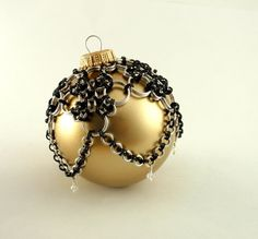 Deluxe Christmas Ornament - Chainmail and Crystals. $65.00, via Etsy.