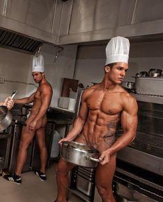 Gay chef cocina gay