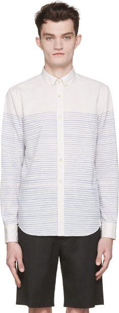 Closed Beige Striped Shirt