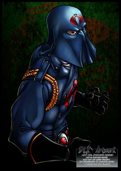 Cobra Commander by Dwayne Biddix Art Thundercats, Comic Books Art, Comic Art, Book Art, Space Ghost, Old School Cartoons, Cobra Commander, Gi Joe Cobra, Nostalgia