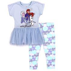 4 5 6 or 6X $36 DISNEY FROZEN ELSA Fleece Hoodie /& Leggings Set Outfit Girls Sz