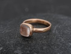 18K Rose Gold Rose Quartz Ring  Rose Quartz by williamwhite