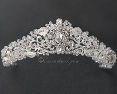 Crystal Bridal Tiara with Pear Stones - Cassandra Lynne Wedding Tiaras, Circlet, Swarovski Crystal Beads, Bridal Tiara, Fantasy Jewelry, Tiaras And Crowns, Diamond Are A Girls Best Friend, Bridal Accessories, Diamond Jewelry