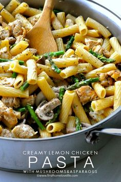 Creamy Lemon Chicken Pasta via www.firsthomelovelifecom