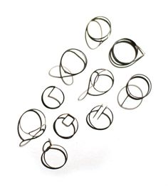 Some scatches in silver. Rings by Anna Kiryakova.