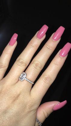 skinny/straight coffin gel nails