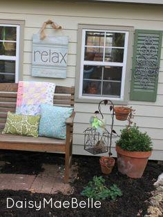 Outdoor Bench @ DaisyMaeBelle