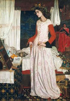 """La Belle Iseult, 1858   by William Morris  Jane Morris  This is Morris's only completed oil painting."""" - courtesy the Tate Gallery    Morris wrote about Jane and the painting,  """"I cannot paint you, but I love you."""""""