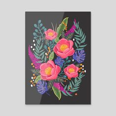 Night Blossom Party - Gallery quality acrylic print with hanging hardware ready for display. Art Prints, Blossom, Inprnt, Archival Paper, Acrylic Prints, Acrylic, Acrylic Art Print, Giclee Art Print, Art