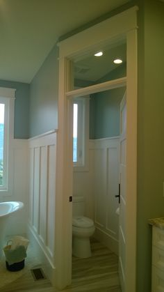 transom window and wall panels Transom Windows, Stair Storage, Under Stairs, Bathtub, Mirror, Bathroom, Wall, Furniture, Home Decor