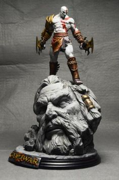 "Kratos God Of War 10"" Painted Figure Statue Toy Collector's Edition Collectibles"