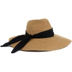 Eugenia Kim - Cassidy Hat (€375) ❤ liked on Polyvore featuring accessories, hats, brown, eugenia kim, wide brim sun hat, bow hat, brown sun hat and beach hat