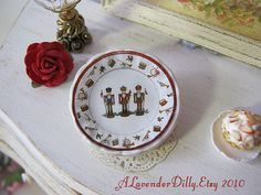 Nutcracker Plate for Dollhouse by alavenderdilly on Etsy, $4.00