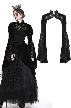 Cheap Women Gothic Style Blouse T Shirt Tops Lace Insert Bell Swing Long Sleeve – Skull Head Gothic Outfits, Gothic Dress, Gothic Lolita, Victorian Gothic Fashion, Gothic Steampunk, Steampunk Clothing, Steampunk Fashion, Fantasy Gowns, Dark Fashion