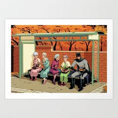 Nanna+nanna+bat+man+Art+Print+by+Dave+Collinson+-+$14.56