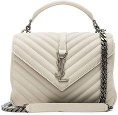 13ff06228ec Shop for Saint Laurent Medium Monogramme College Bag in Crema Soft at FWRD.