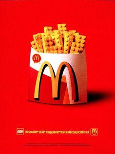 McDonald's & Lego co-branding campaign Creative Advertising, Ads Creative, Advertising Poster, Advertising Design, Marketing And Advertising, Advertising Ideas, Street Marketing, Guerilla Marketing, Branding