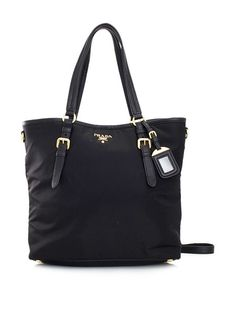 PRADA TESSUTO BLACK VITELLO DAINO NYLON 2-WAY SHOPPING TOTE BAG http://www.boutiqueon57.com/products/prada-br3924-tessuto-large-shopping-tote-black-handbag $899