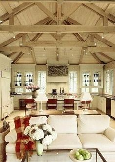I love the open ceiling and exposed beams but heating and cooling this place has to be outrageous!