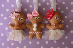 Gingerbread Girl Felt Christmas Ornament. $12.00, via Etsy.