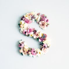 Floral Letters baby room monogram letter nursery by shopkidday