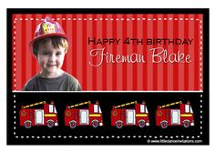 fireman party invitations