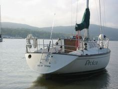 The S2 sailboat was built in Michigan by Slickcraft in the mid 1980s. There are several models of S2, of which the 10.3 Metre represents a 34 foot version. The sail area for the sailboat is 553 square fee and the displacement for the boat is approximately 10,500 lbs.