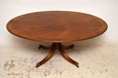 This magnificent large mahogany oval dining table is wonderful quality & I believe it was made by the famous William Tillman in the Pedistal Table, English Antique Furniture, Mahogany Dining Table, Furniture Sale, Regency, Sale Items, Home Furnishings, Antiques, Home Decor