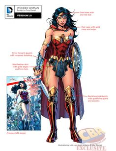 "Images for : DC Comics' ""Rebirth"" Character Designs for Batman, Wonder Woman and More 