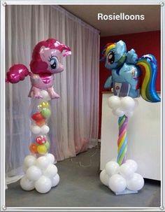 Источник интернет Balloon Pillars, Balloon Tower, Balloon Stands, Balloon Display, My Little Pony Party, My Little Pony Balloons, Balloon Centerpieces, Balloon Decorations, Deco Ballon