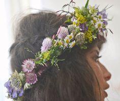 Fox Fodder Farm : Honey Kennedy flower crown | Is it spring yet?? Get more flower crowns here --> http://www.pinterest.com/thevioletvixen/flower-crowns/