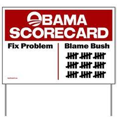 Obama Scorecard Yard Sign