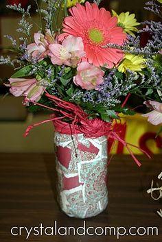 How to Make a Mod Podge Vase
