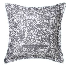 cottonSateenSilver leaf printPolyester fillSelf-flange with mint cord Filled Cushion - x