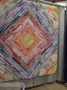 Amazing selvage strip quilt - 2011 Fiber Arts Fiesta, Albuquerque, New Mexico.