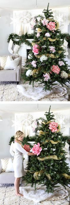 AD-Floral-Christmas-Tree-Decorating-Ideas-08