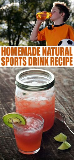 Healthy Homemade Natural Sports Drink Recipe. Gatorade and powerade are not healthy while playing a sport. Water is most beneficial but homemade sports drinks are good recovering fluids