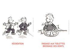 danger école: emploi du temps maternelle Illustrations, Comics, Kids, Planning, Montessori, Reception, Images, Classroom Management, Classroom