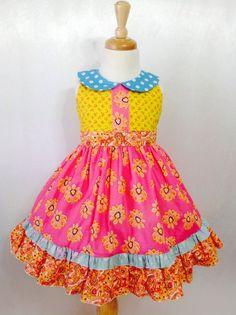 Girl Dress Size 4; Betzabe; Handmade; Everyday Use; All Seasons; 100 % Cotton #Handmade #DressyEverydayHoliday