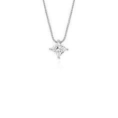 Diamond Necklaces & Diamond Pendants in Platinum & Gold   Blue Nile