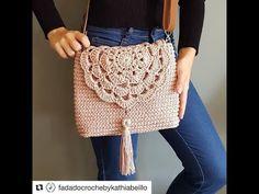 Top 10 crochet bolsos y carteras de trapillo y lana tejidos a mano con g...