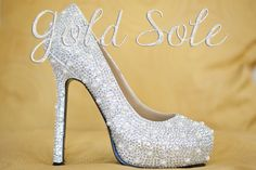 Crystal+Wedding+Shoes+with+Pearls+by+goldsole+on+Etsy,+$275.00